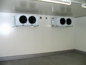 Hűtőkamra, elpárologtatók